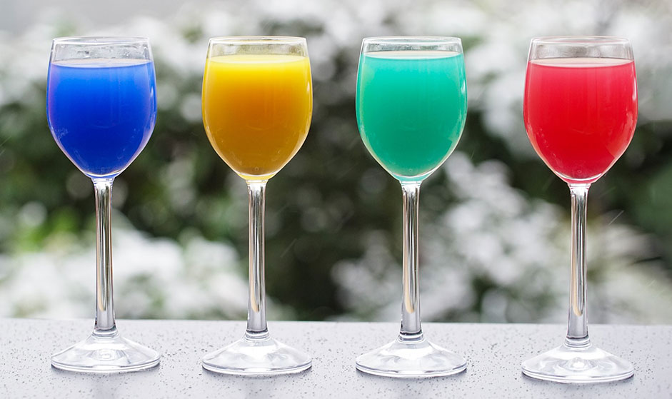 The four value cocktails available inside the 'bar' at #GC2019